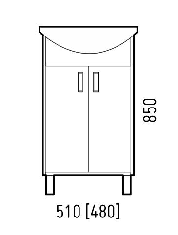 Corozo Мебель для ванной Колор 50, красная - картинка