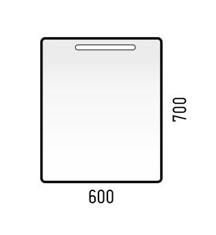 Corozo Мебель для ванной Остин 60, сонома - фотография