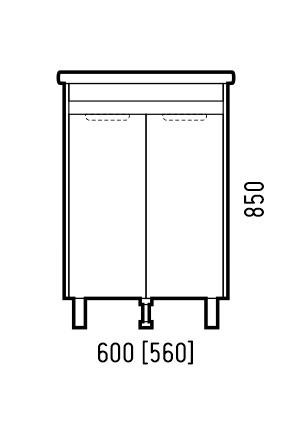 Corozo Мебель для ванной Остин 60, сонома - картинка