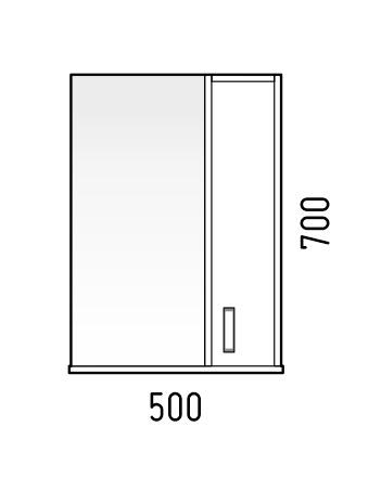 Corozo Мебель для ванной Колор 50, красная - фотография