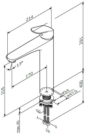 Am.Pm Смеситель для раковины чаши Like F8092000 - картинка