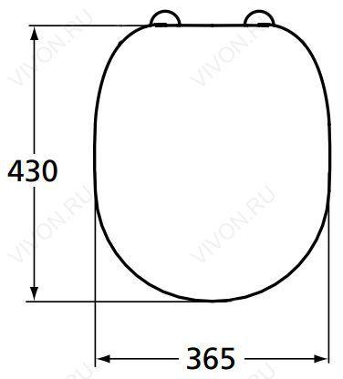 Ideal Standard Крышка-сиденье Connect E712801 - картинка