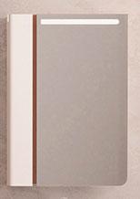 Velvex Зеркальный шкаф Crystal Cub 60 белый/ темный лен
