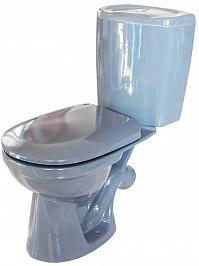 Керамин Унитаз-компакт Омега с жестким сиденьем, графит