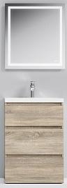 Am.Pm Мебель для ванной Gem S 60 светлый дуб, напольная, с 3 ящиками