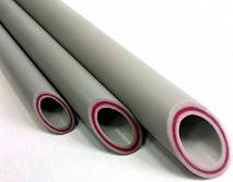 ФД Пласт Труба PPR PN 20 Дн-20 х 3,4 мм стекловолокно OPTIMUM, серая