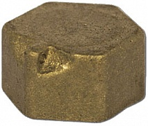 ВЛМЗ 1003 Заглушка латунная (колпак) Ду-15 под пломбу (412492)