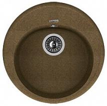 Florentina Мойка гранитная Лотос 510 круглая коричневый