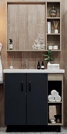 Onika Мебель для ванной Тимбер 80 серый /дуб сонома