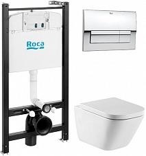 Roca Комплект: унитаз Gap + инсталляция + кнопка