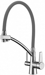 Lemark Смеситель Comfort LM3071C-Gray для кухонной мойки