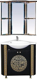 Misty Мебель для ванной Olimpia Lux 60 угловая черная патина R
