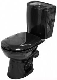 Керамин Унитаз-компакт Омега черный с мягким сиденьем