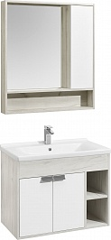 Акватон Мебель для ванной Флай 80 дуб крафт/белый