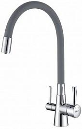 Lemark Смеситель Comfort LM3075C-Gray для кухонной мойки