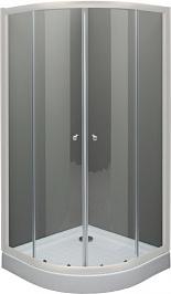 De Aqua Душевой уголок R8080OP-W 80х80 прозрачный