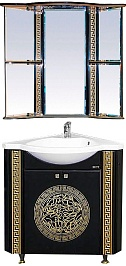 Misty Мебель для ванной Olimpia Lux 60 угловая черная патина L