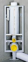 Schwab Система инсталляции 288-4080, кнопка смыва матовый хром