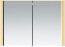 Am.Pm Зеркальный шкаф Sensation 100, с подсветкой, нуга, глянцевая