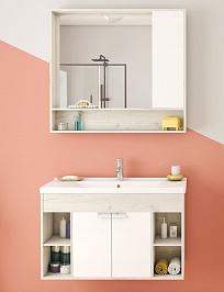 Акватон Мебель для ванной Флай 100 дуб крафт/белый