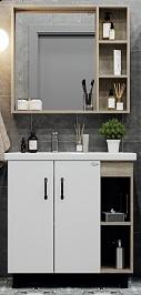 Onika Мебель для ванной Тимбер 80 белый /дуб сонома