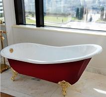 Magliezza Чугунная ванна Gracia Red 170x76 (ножки белые)