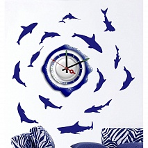 Feron Светильник ночной NL20 часы-наклейка