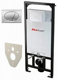 Alcaplast Система инсталляции Sadromodul AM101/1120+M71+M91 4 в 1 кнопка смыва хром
