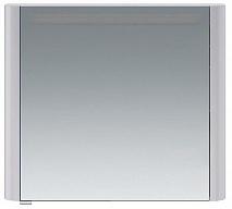 Am.Pm Зеркальный шкаф Sensation 80 R, с подсветкой, серый шелк