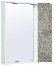 Runo Зеркало-шкаф для ванной Манхэттен 65 серый бетон
