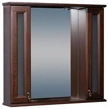 Bas Зеркало-шкаф для ванной Варна 105 орех, вставки стекло