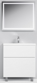 Am.Pm Мебель для ванной Gem 75 глянец белый, напольная, с 2 ящиками